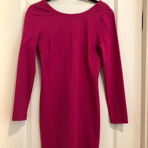 Beautiful dark pink dress for outing or work